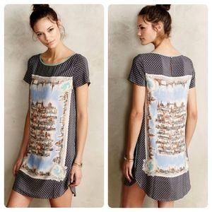 Anthropologie Around Town Silk Tee Dress by Maeve